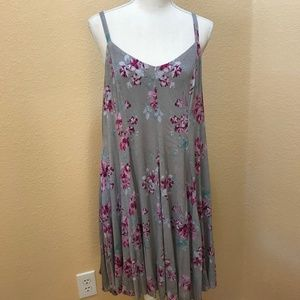 Torrid NWOT Gray Floral Swing Dress 1X